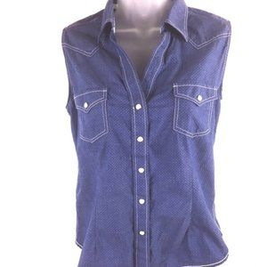 Panhandle Roughstock Pearl Snap Cowgirl Tank M